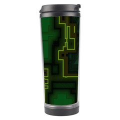 A Completely Seamless Background Design Circuit Board Travel Tumbler