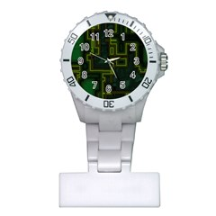 A Completely Seamless Background Design Circuit Board Plastic Nurses Watch