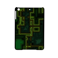 A Completely Seamless Background Design Circuit Board iPad Mini 2 Hardshell Cases