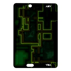 A Completely Seamless Background Design Circuit Board Amazon Kindle Fire HD (2013) Hardshell Case