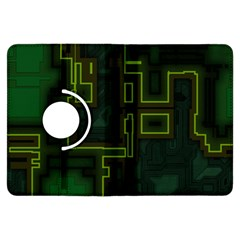 A Completely Seamless Background Design Circuit Board Kindle Fire HDX Flip 360 Case