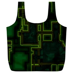 A Completely Seamless Background Design Circuit Board Full Print Recycle Bags (l)