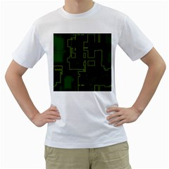 A Completely Seamless Background Design Circuit Board Men s T Shirt (white)