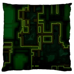 A Completely Seamless Background Design Circuit Board Large Flano Cushion Case (One Side)