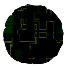 A Completely Seamless Background Design Circuit Board Large 18  Premium Flano Round Cushions