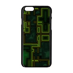 A Completely Seamless Background Design Circuit Board Apple iPhone 6/6S Black Enamel Case