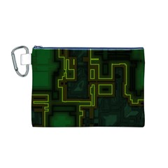 A Completely Seamless Background Design Circuit Board Canvas Cosmetic Bag (M)