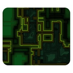 A Completely Seamless Background Design Circuit Board Double Sided Flano Blanket (small)