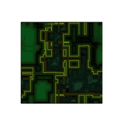 A Completely Seamless Background Design Circuit Board Satin Bandana Scarf