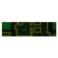 A Completely Seamless Background Design Circuit Board Satin Scarf (oblong)