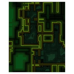 A Completely Seamless Background Design Circuit Board Drawstring Bag (small)