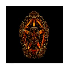 3d Fractal Jewel Gold Images Tile Coasters