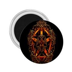 3d Fractal Jewel Gold Images 2 25  Magnets