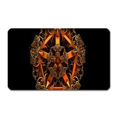 3d Fractal Jewel Gold Images Magnet (Rectangular)