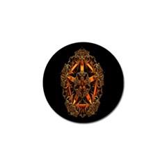 3d Fractal Jewel Gold Images Golf Ball Marker (10 Pack)