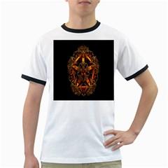 3d Fractal Jewel Gold Images Ringer T Shirts