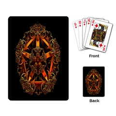 3d Fractal Jewel Gold Images Playing Card