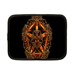 3d Fractal Jewel Gold Images Netbook Case (Small)