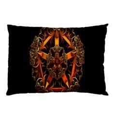 3d Fractal Jewel Gold Images Pillow Case