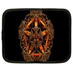 3d Fractal Jewel Gold Images Netbook Case (xl)