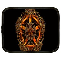 3d Fractal Jewel Gold Images Netbook Case (xxl)