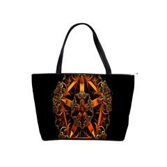 3d Fractal Jewel Gold Images Shoulder Handbags
