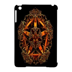 3d Fractal Jewel Gold Images Apple Ipad Mini Hardshell Case (compatible With Smart Cover)