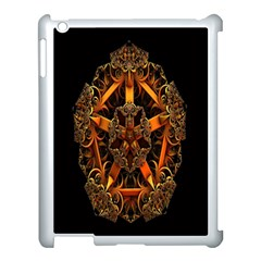 3d Fractal Jewel Gold Images Apple iPad 3/4 Case (White)