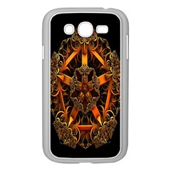 3d Fractal Jewel Gold Images Samsung Galaxy Grand Duos I9082 Case (white)