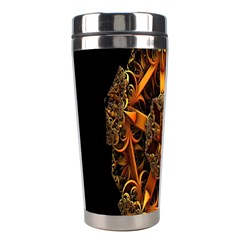 3d Fractal Jewel Gold Images Stainless Steel Travel Tumblers
