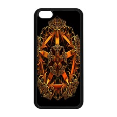 3d Fractal Jewel Gold Images Apple iPhone 5C Seamless Case (Black)