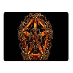 3d Fractal Jewel Gold Images Double Sided Fleece Blanket (Small)