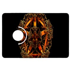 3d Fractal Jewel Gold Images Kindle Fire HDX Flip 360 Case
