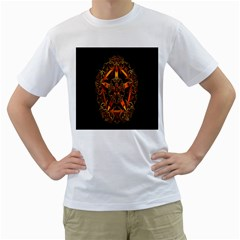 3d Fractal Jewel Gold Images Men s T Shirt (white)