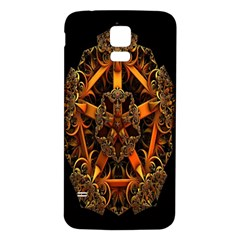 3d Fractal Jewel Gold Images Samsung Galaxy S5 Back Case (White)