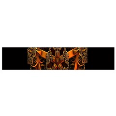 3d Fractal Jewel Gold Images Flano Scarf (Small)