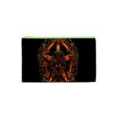 3d Fractal Jewel Gold Images Cosmetic Bag (xs)