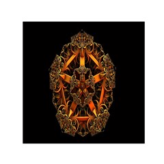 3d Fractal Jewel Gold Images Small Satin Scarf (Square)