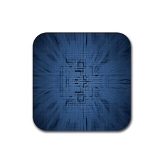 Zoom Digital Background Rubber Coaster (Square)