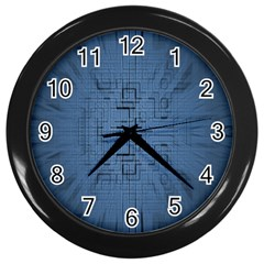 Zoom Digital Background Wall Clocks (Black)