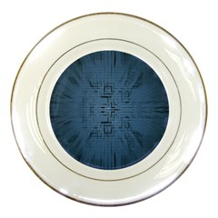 Zoom Digital Background Porcelain Plates