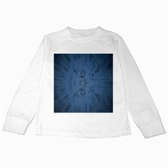 Zoom Digital Background Kids Long Sleeve T-Shirts