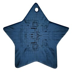 Zoom Digital Background Star Ornament (two Sides)