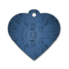 Zoom Digital Background Dog Tag Heart (Two Sides)