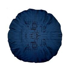 Zoom Digital Background Standard 15  Premium Round Cushions