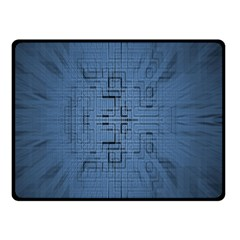 Zoom Digital Background Double Sided Fleece Blanket (Small)