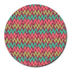 Abstract Seamless Abstract Background Pattern Round Mousepads