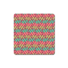 Abstract Seamless Abstract Background Pattern Square Magnet