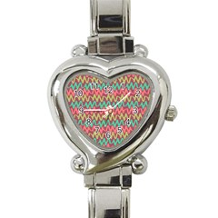 Abstract Seamless Abstract Background Pattern Heart Italian Charm Watch