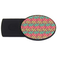 Abstract Seamless Abstract Background Pattern Usb Flash Drive Oval (4 Gb)